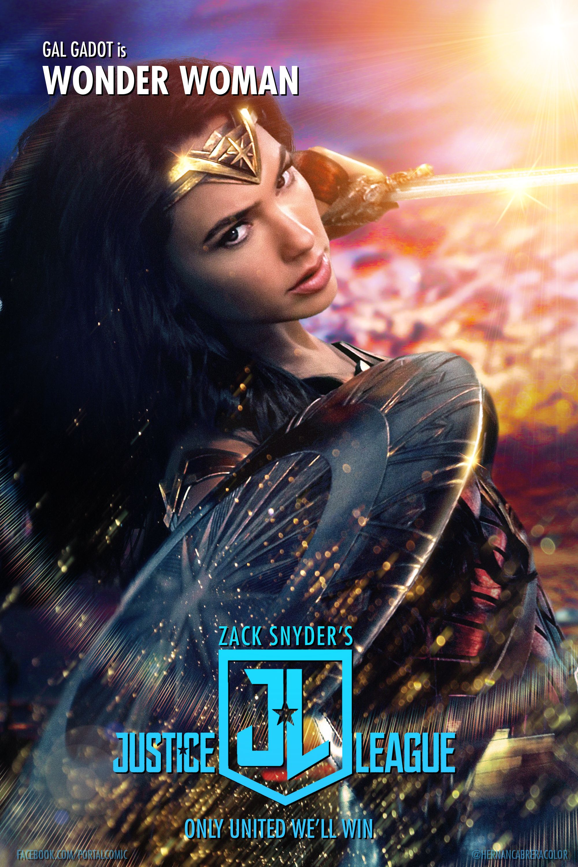 Zack Snyder S Justice League Wonder Woman By Portalcomic On Deviantart In 2021 Justice League Wonder Woman Justice League Justice League Art