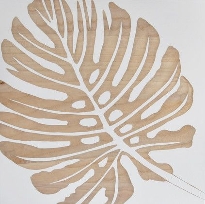 Tropical Leaf 图案 Plywood Art Wood Artwork Art