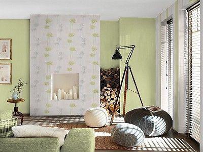 tapete rasch home vision vliestapete 863734 blumen struktur weiß, Wohnzimmer