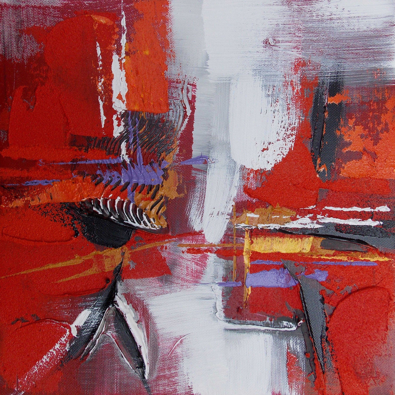 intérieur rouge et blanc | Tableau rouge blanc violet art abstrait ...