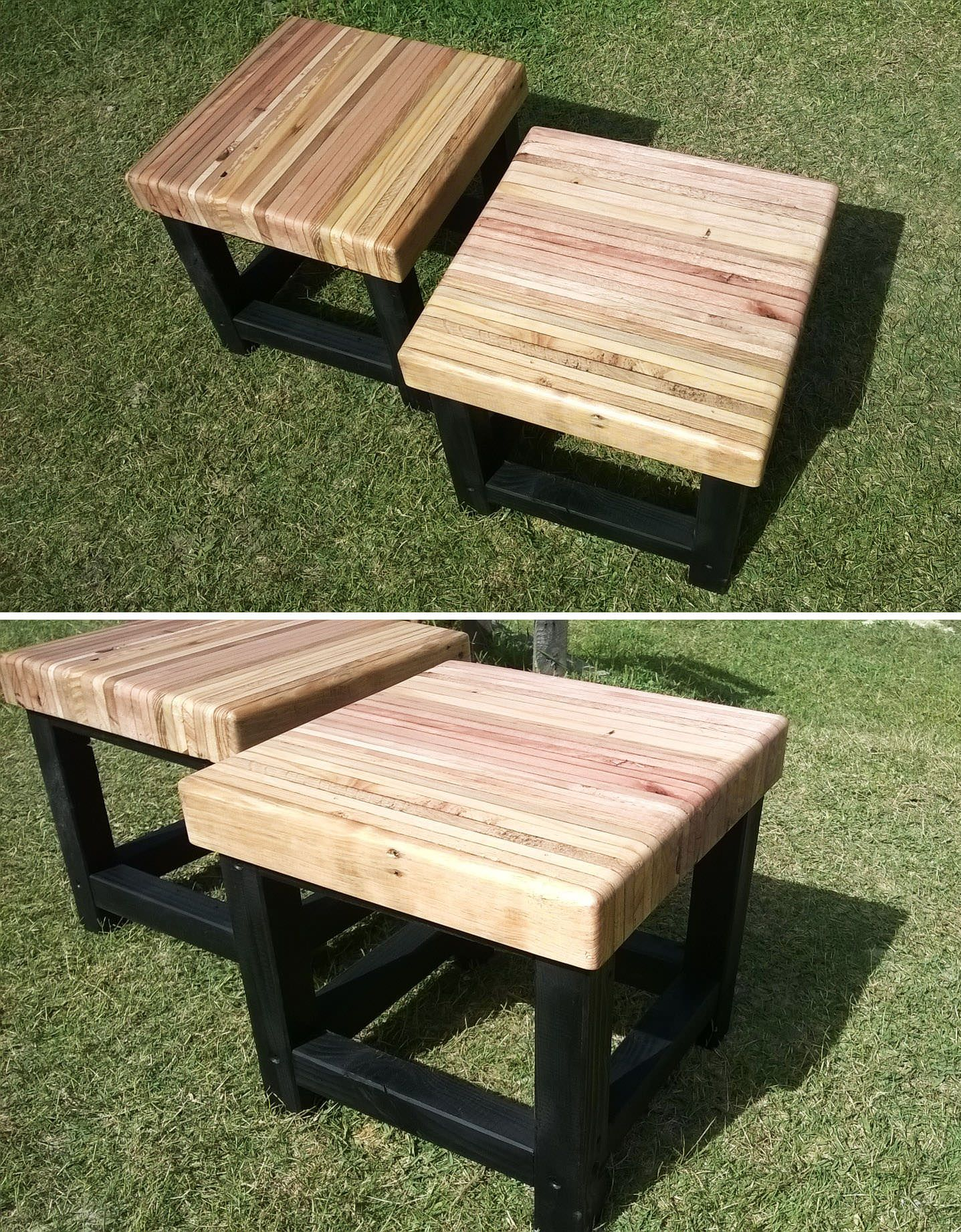 Bench Made From Laminated And Recycled Wooden Pallet Planks