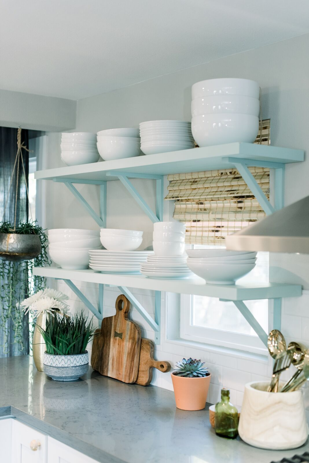 Gorgeous open shelves like these call for extra beautiful kitchen ...