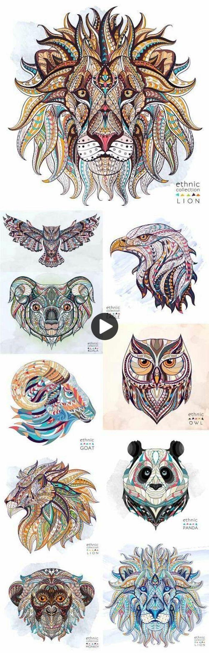 Meer Dan 75 Ideeen Voor Tattoo Motieven Met Een Diepe Betekenis Dierentatoeages Uiltatoeages Abstracte Kleurplaten