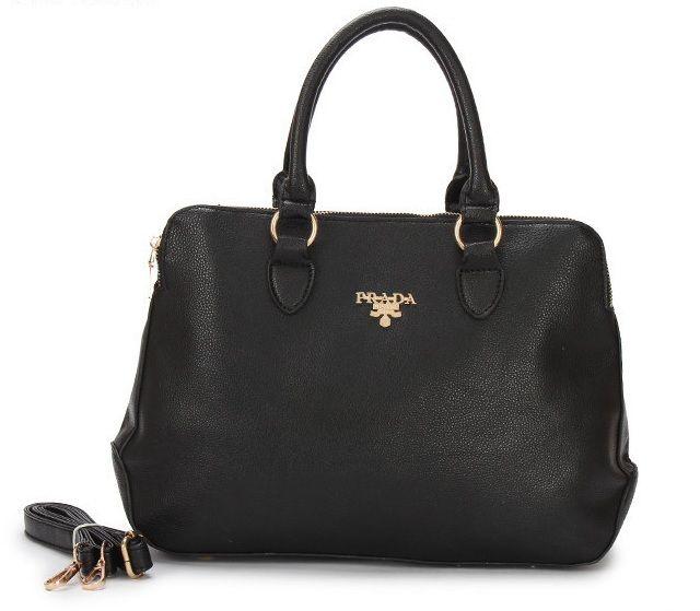 Cheap Prada Grained Calf Leather Square Handbag Black Pin It PRADA15100 759797e47437e