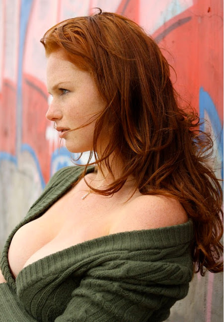 busty red head women with glasses