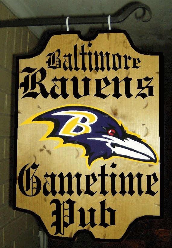 Wooden Wood Nfl Football Baltimore Ravens Bar By 3csgiftcreations 24 99 Man Cave Home Bar