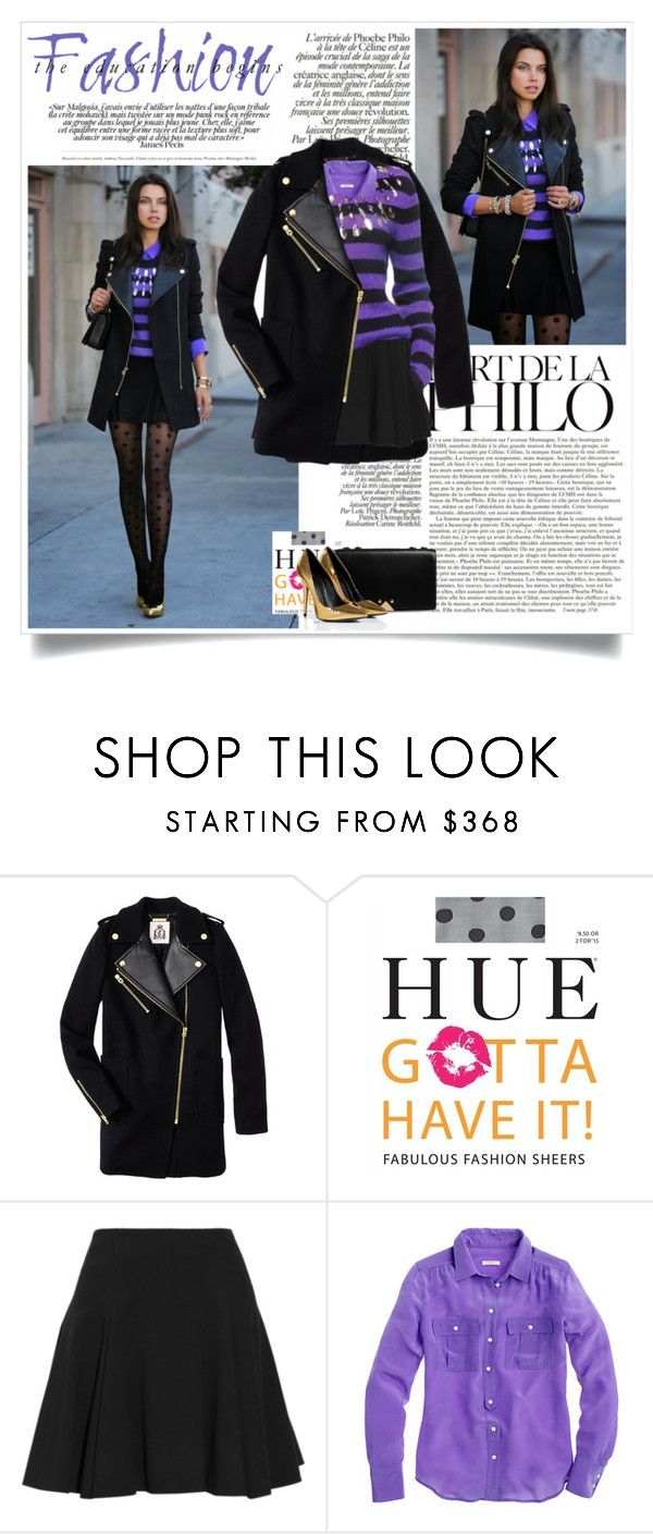 """""""Vivaluxury: Stripes/ Polka Dots"""" by nora-nazeer ❤ liked on Polyvore featuring Juicy Couture, Giuseppe Zanotti, Cushnie Et Ochs and J.Crew"""