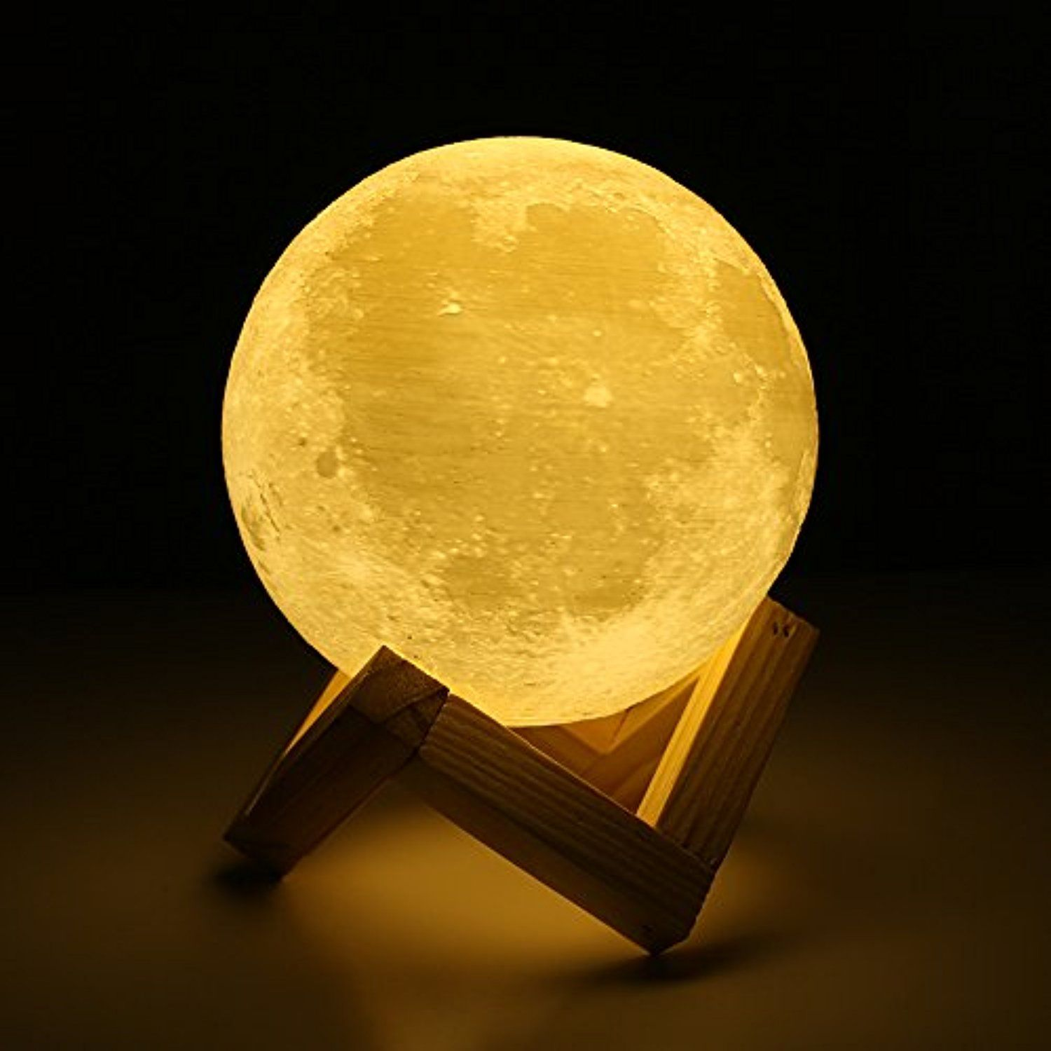 Moon Lamp Lampwin 5 9 Inch Usb Rechargeable Dimmable Led 3d Full Moon Light Lantern Touch Switch Warm Cool Led Night Lamp Night Light Lamp Moon Nightlight