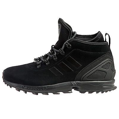 8148c25ef7899 Adidas ZX Flux Winter Mens AQ8433 Core Black Sneakerboots Boots Shoes Size  10