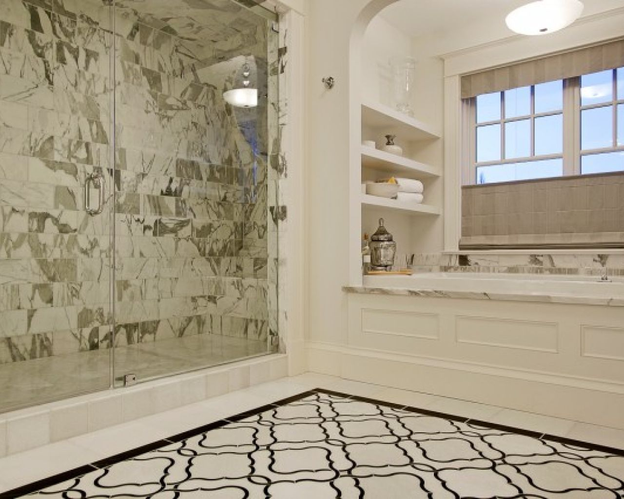 78 Images About Bathroom Flooring Ideas On Pinterest Cast Iron Tub Marbles And Carrara Marble