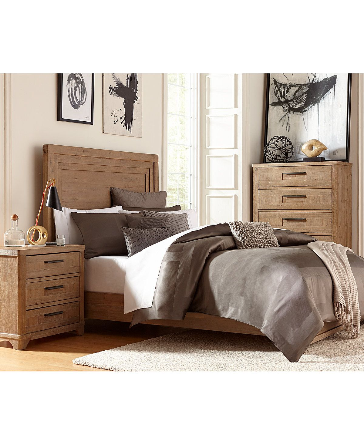 Summerside 3 Piece California King Bedroom Furniture Set With Dresser    Furniture   Macyu0027s
