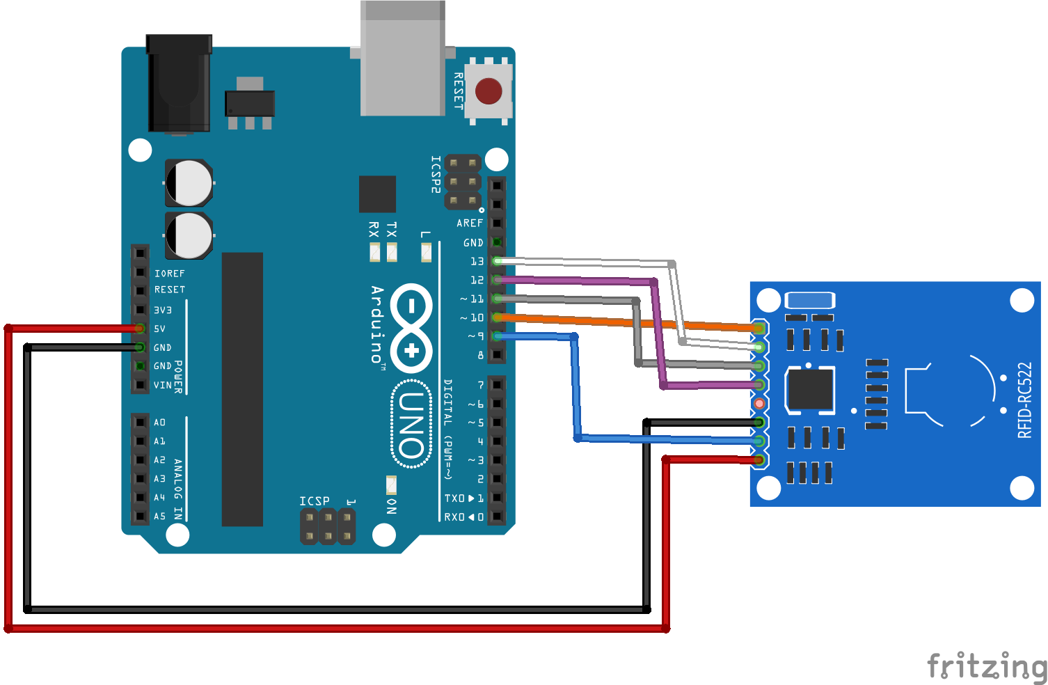MFRC522 RFID Reader with Arduino example #arduino | Circuit Diagrams ...