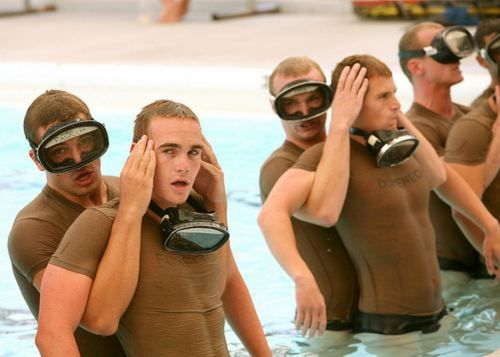 Military Men Abs Through The Shirts Navy Seal Training Hot