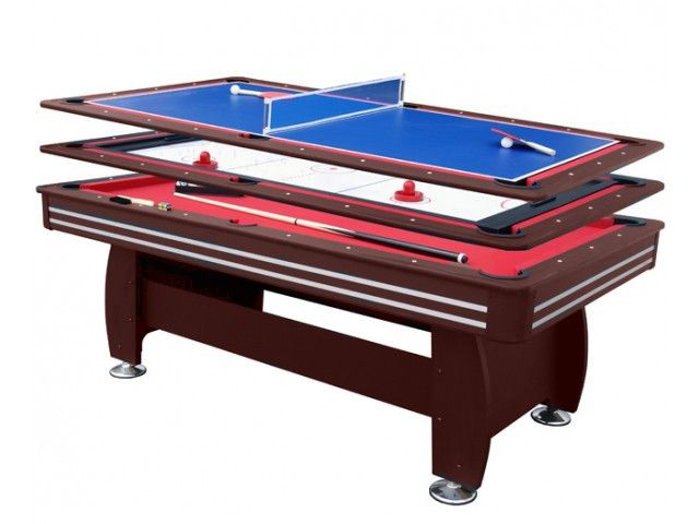 air king triple master 7ft 3 in 1 deluxe table with mahogany body rh pinterest com