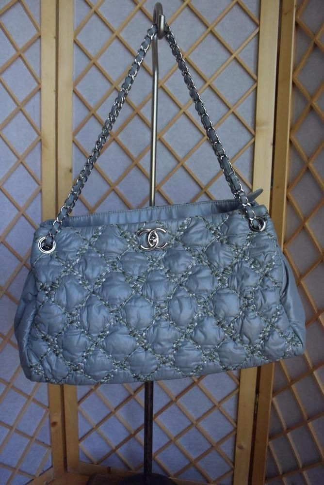 Chanel Quilted Bubble Nylon CC Logo Embroidered Large Accordion Chain Bag  NWT!!!  CHANEL  ShoulderBag 9bd9a411232ce