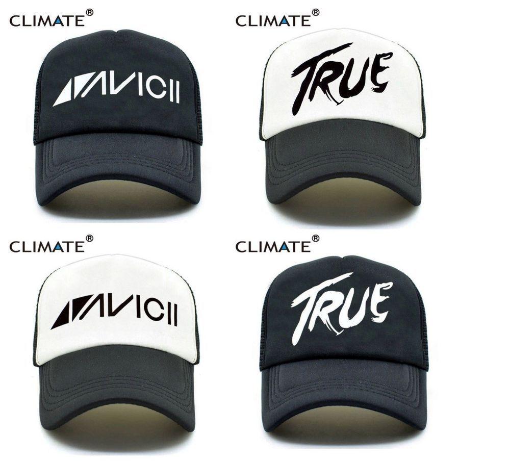 27a1ab6d124 CLIMATE Men Women New Trucker Caps AVICII TRUE Hot Music DJ Caps Hot Summer   CLIMATE  BaseballCap