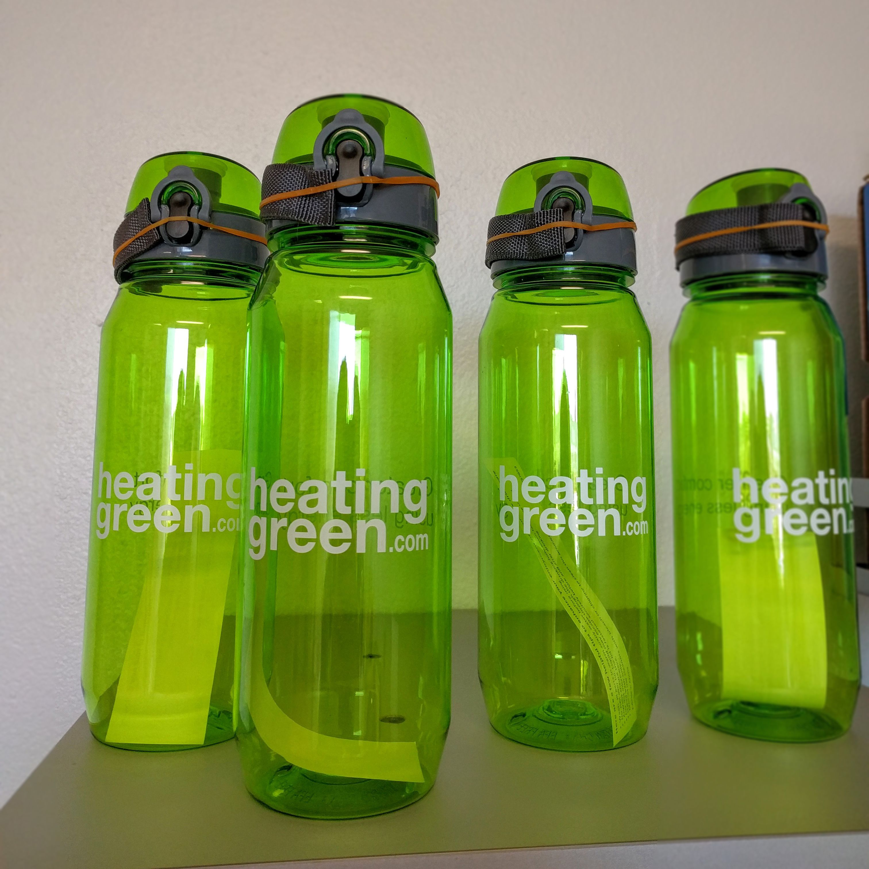 Got another order of Heating Green water bottles in this week! Will be sending to all our customers with orders over $500. This week our bottles are being sent as far as Romania and Singapore, as well as across the U.S. Thank you to all who have selected Heating Green for heating systems.