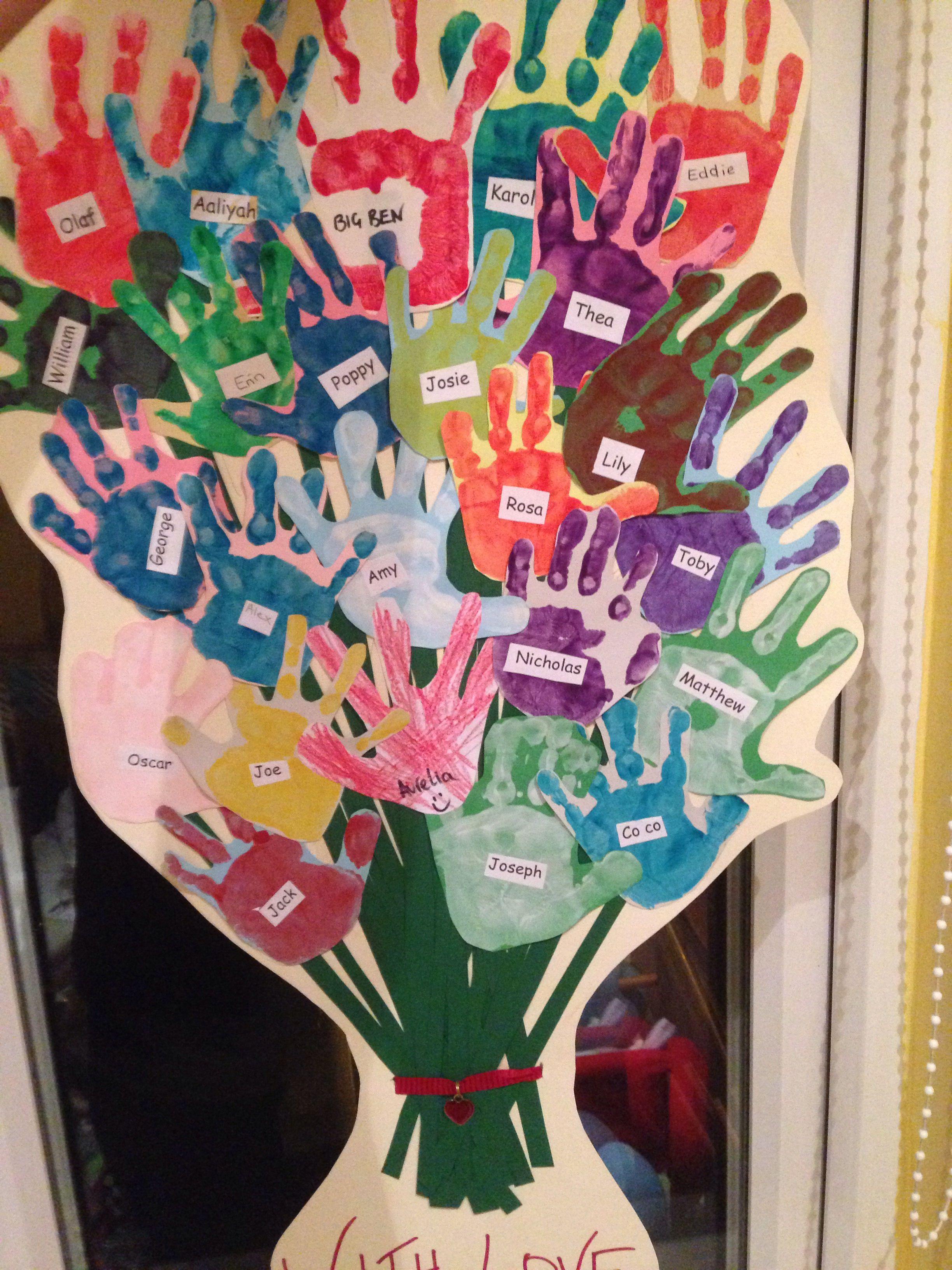handprint leavingthank you card for teacher  teacher
