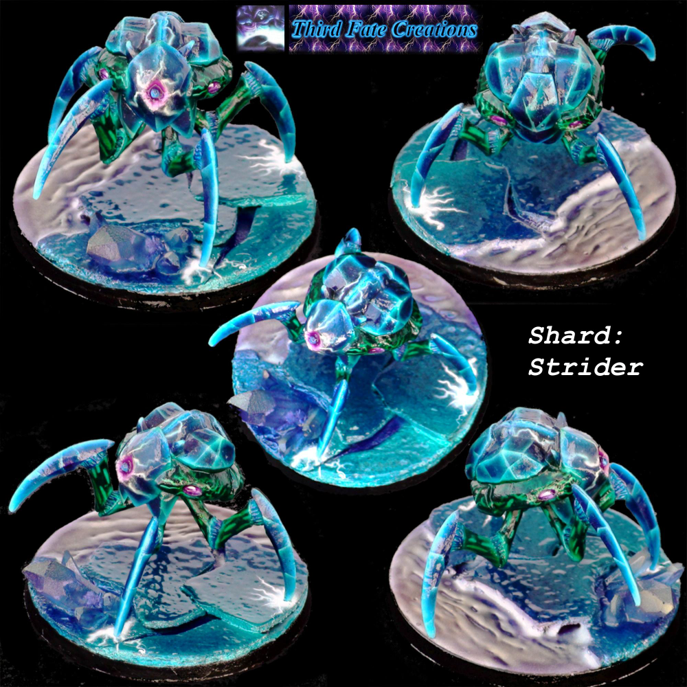 Airbrush Crystal Ice Shard Shard Crystal Airbrush Ice Shard Strider Gallery Dakkadakka At The Intersection Of Grim And D Striders Crystals Gallery