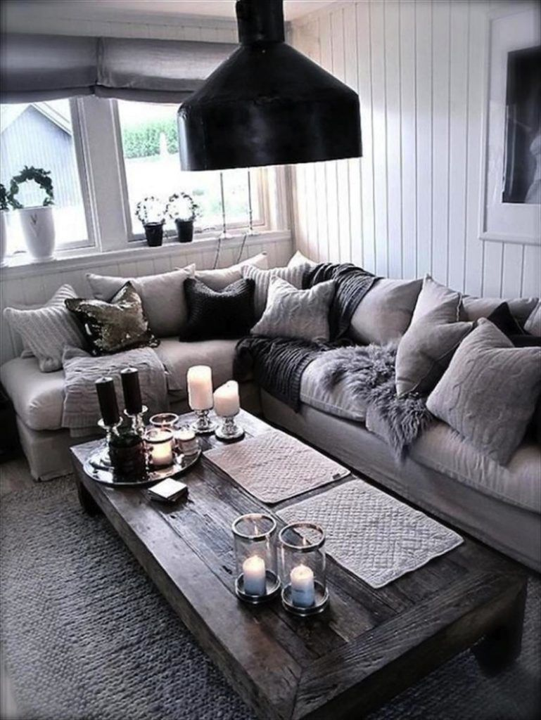 29 beautiful black and silver living room ideas to inspire - Black and white and grey living room ...