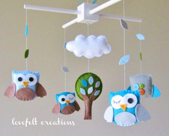 Image Gallery Owl Crib Mobile