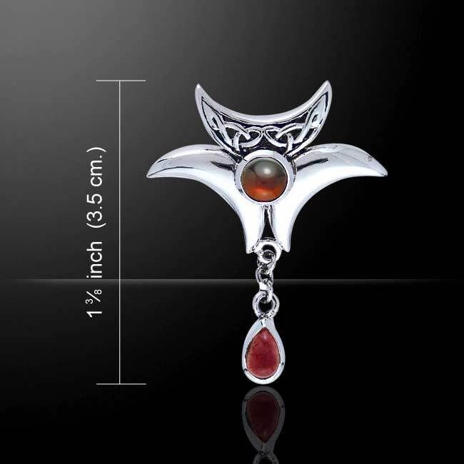 Celtic knot crescent moon 925 sterling silver pendant with gem celtic knot crescent moon 925 sterling silver pendant with gem peter stone aloadofball Images