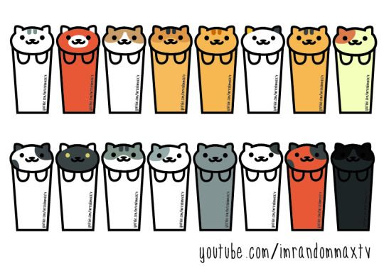 Diy Neko Atsume Cat Bookmarks Templates! | Craft | Pinterest