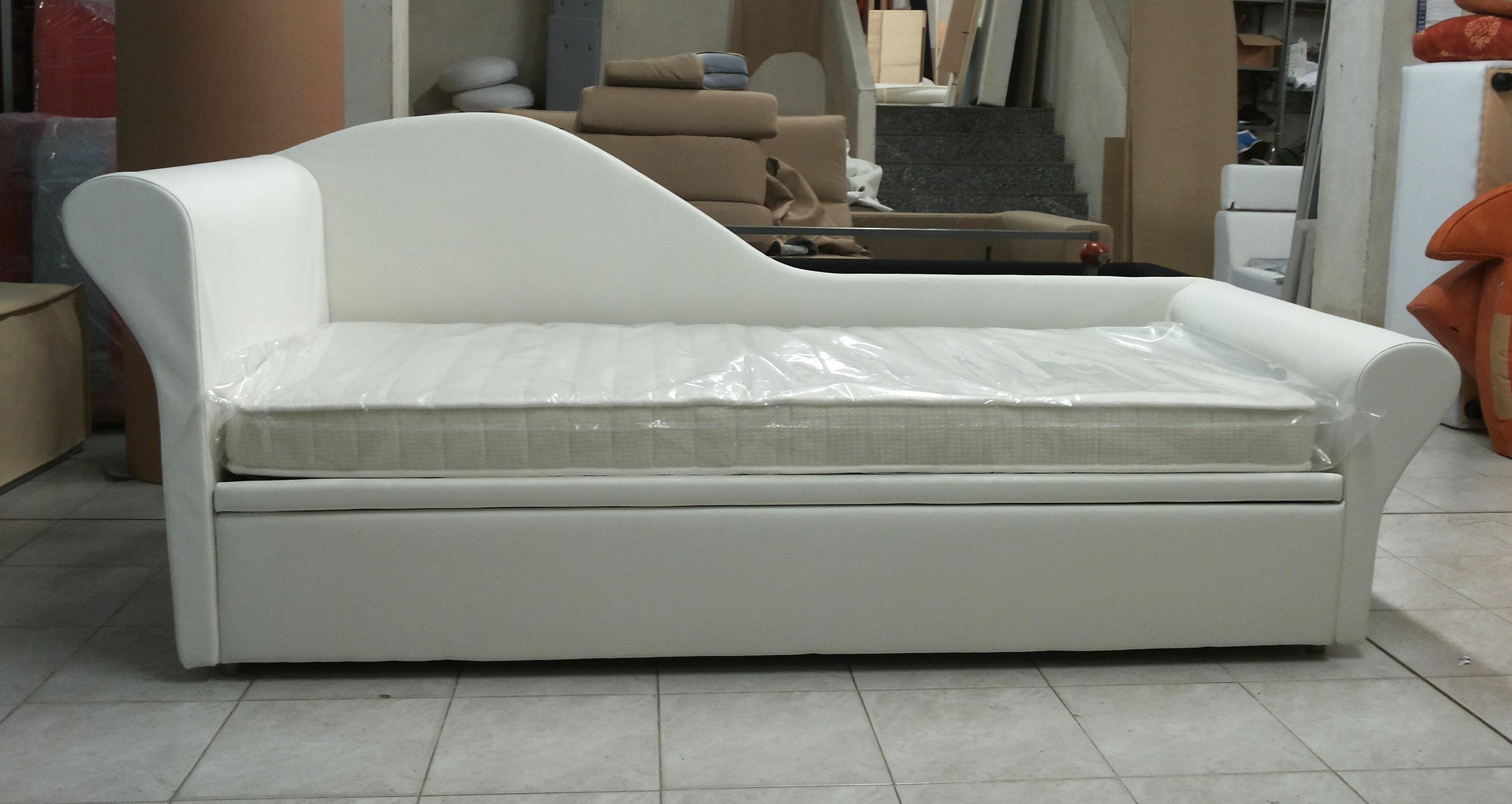 Chaise longue versione letto con secondo letto - Copridivano chaise longue su misura ...