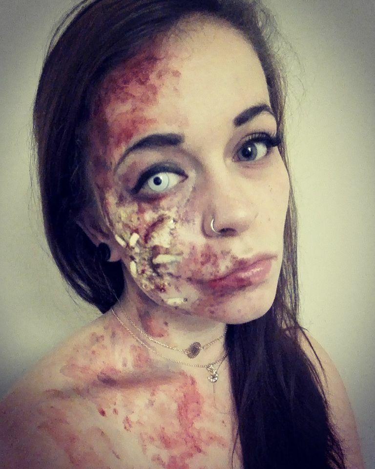 #art #halloween #makeup #polishgirl  #patulskaart #zombie #zombiemakeup #artist #makeupartist
