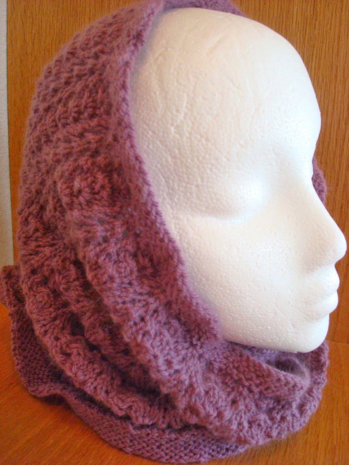 Knice Knitties: Victoria Cowl/Hood a free knit pattern   Free ...
