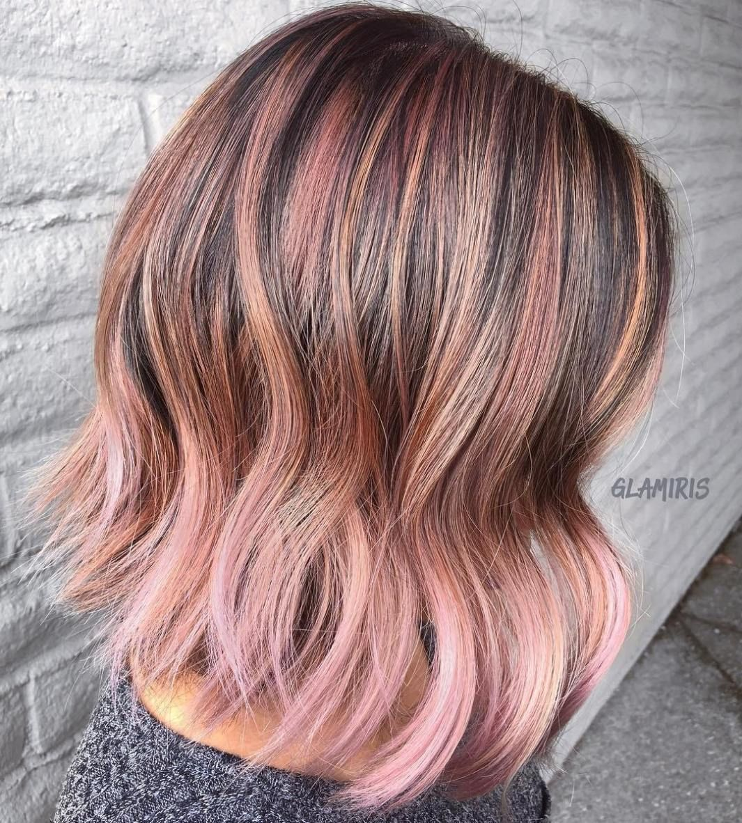 40 Ideas Of Pink Highlights For Major Inspiration In 2020 Hair