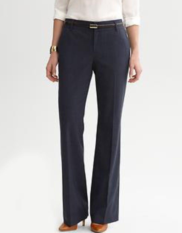 BANANA REPUBLIC Women/'s Black Jackson Fit Trouser Pants Size 2 PETITE