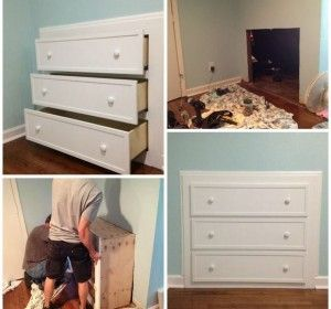 DIY Built-In Dresser! Great idea for small rooms!!