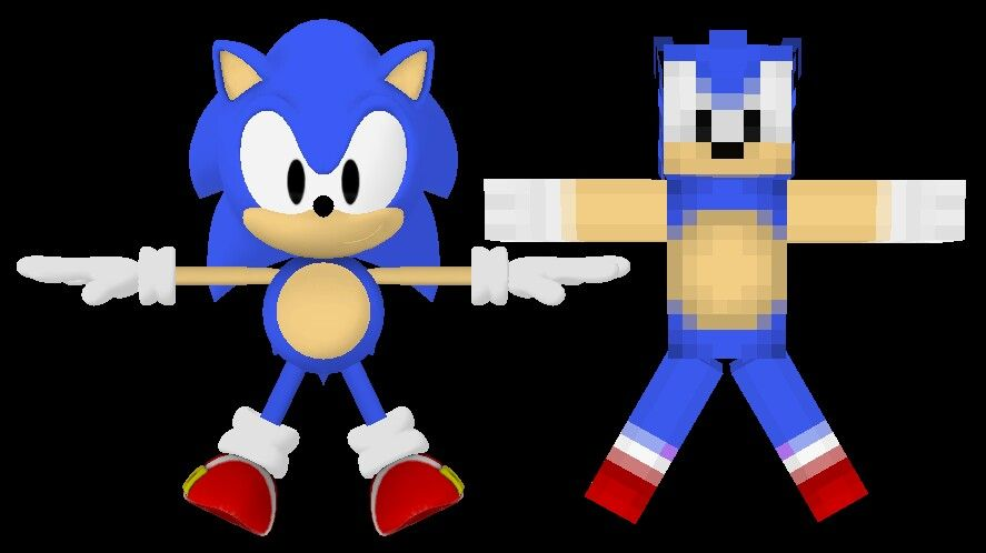 Classic Sonic 3d Model Minecraft Model Funny Quotes Funny Down Quotes