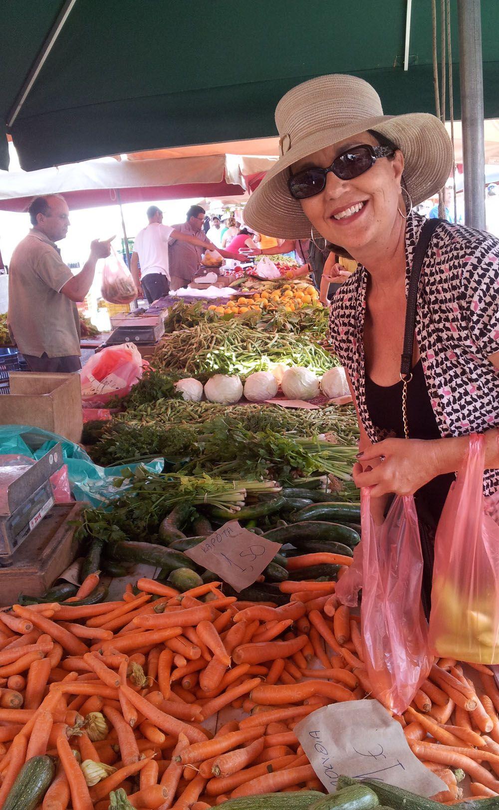 Lifestyle market day in ermioni greece food europe