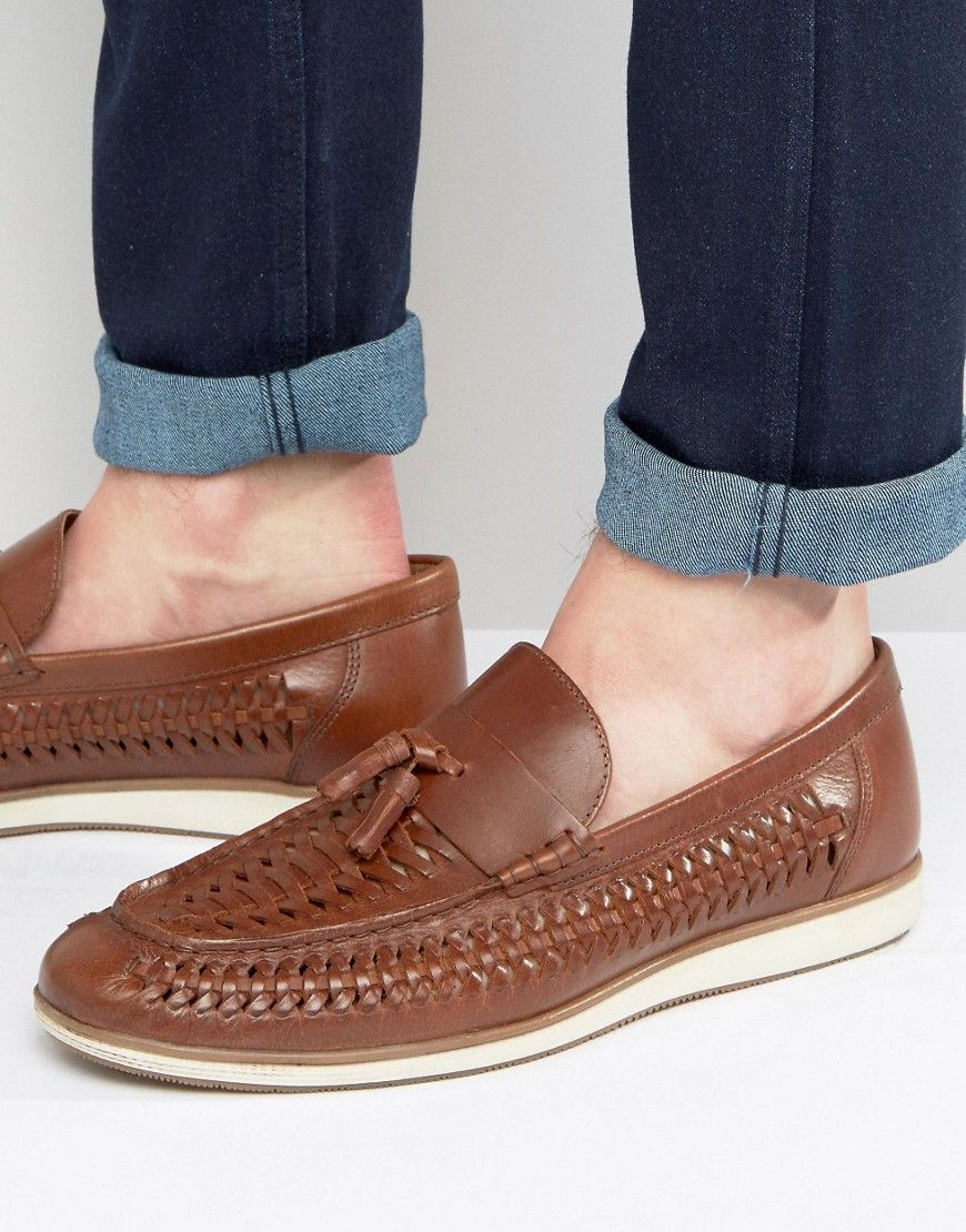 8effc21ff37ff Red Tape Woven Tassel Loafers In Brown Leather | StitchFix Ideas ...