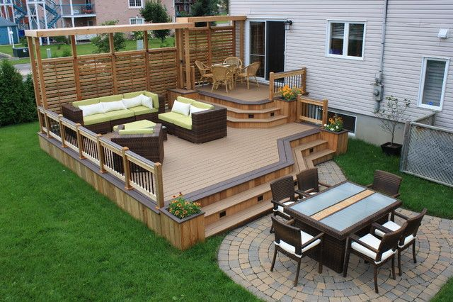 Wooden Pergola Is A Perfect Decor That Can Be Added Into A Timber Decking Description From Homedesignlov Deck Designs Backyard Patio Design Patio Deck Designs