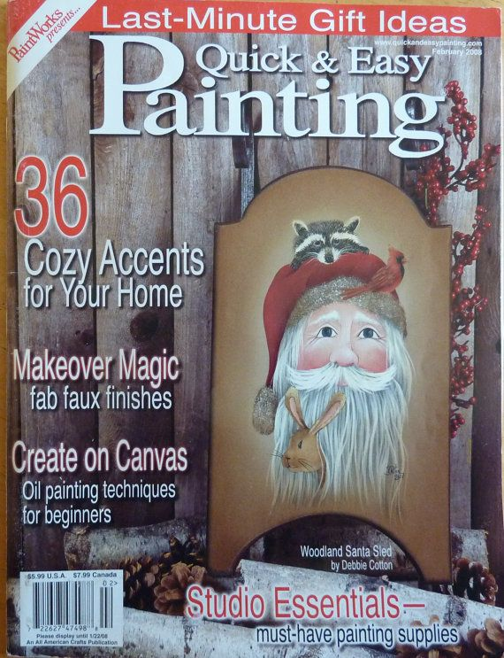 Quick Easy Painting Magazine February 2008 Orted Christmas Tole Patterns