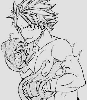 Natsu Dragneel In All His Literal Hotness Fairy Tail Manga