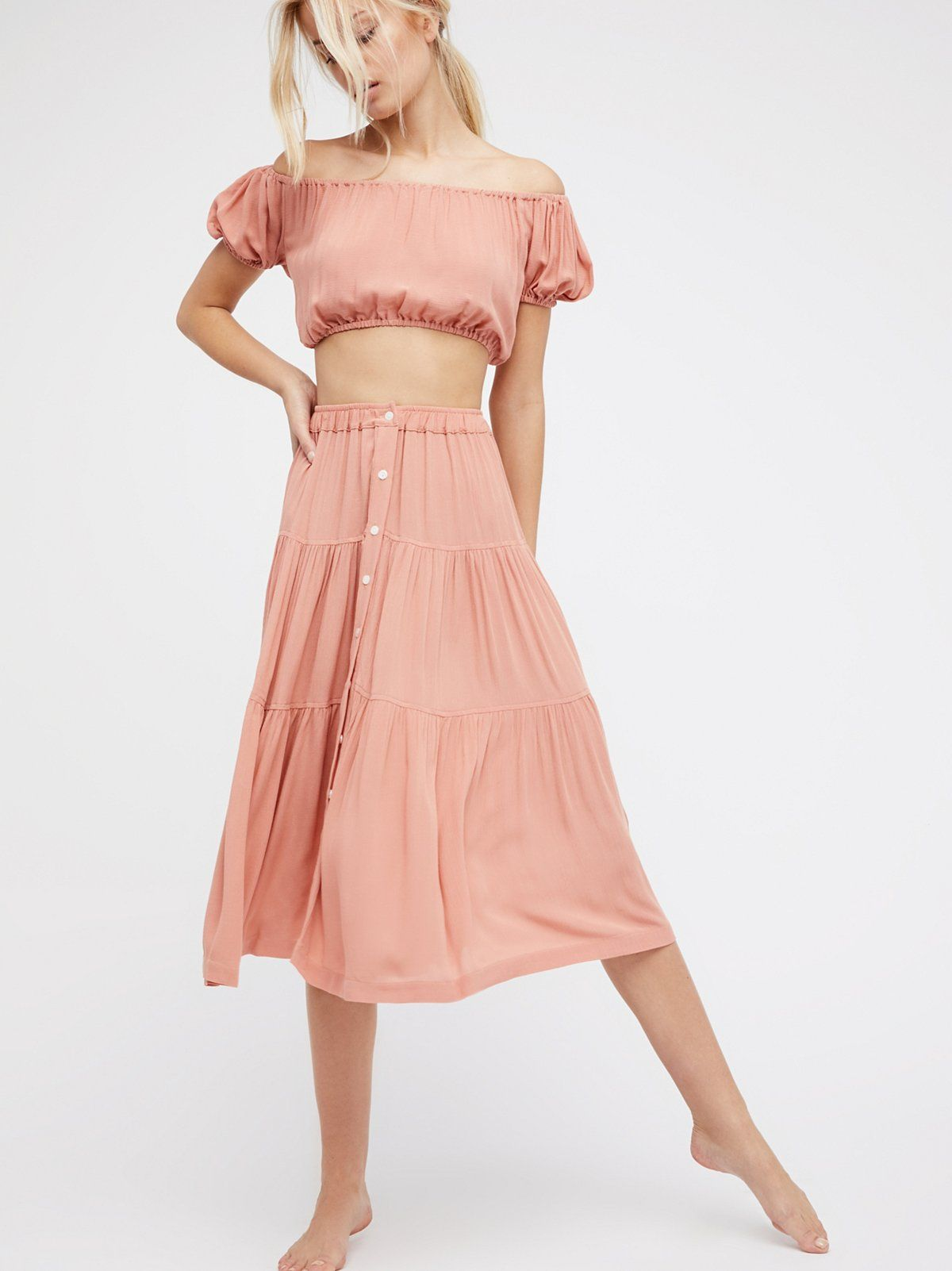 Margot Two Piece Set Fashion Crop Dress Two Piece Dress