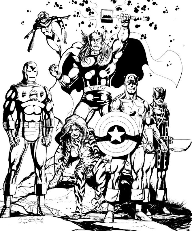 The Avengerssssssssssssssssss.jpg (666×800) | Lineart: Avengers ...