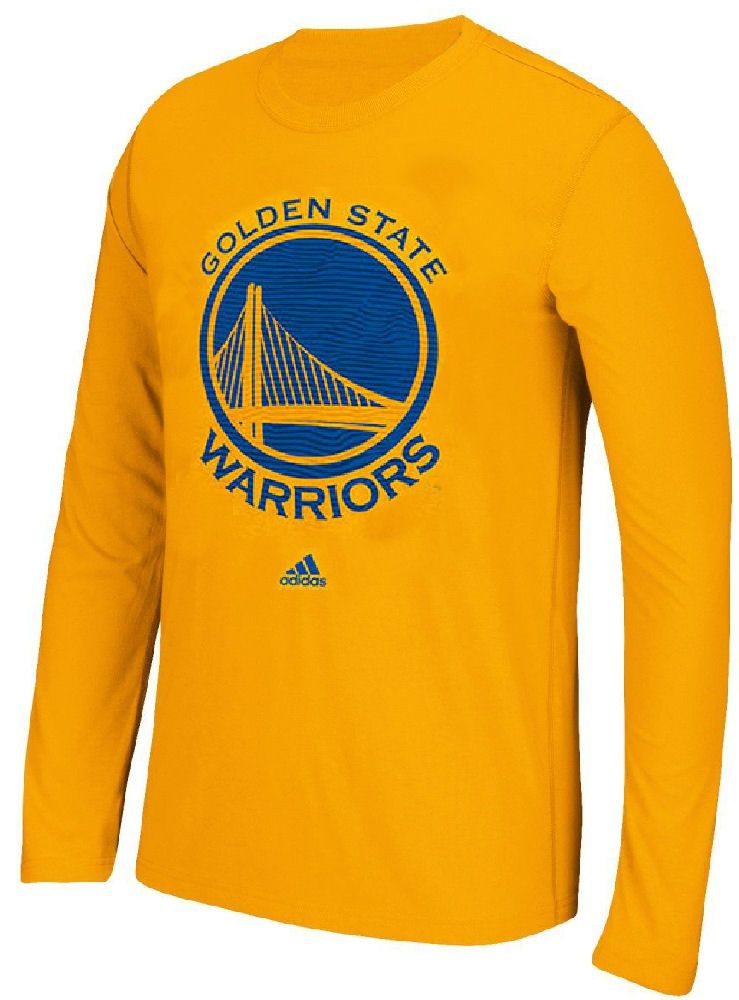3307ca4b727b NBA Golden State Warriors Gold Adidas Zone Press Long Sleeve T Shirt  27.95