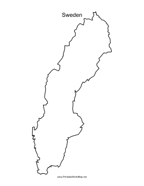 This Printable Outline Map Of Sweden Is Useful For School Assignments Travel Planning And More Free To Download And Print Sweden Map Sweden Map Outline