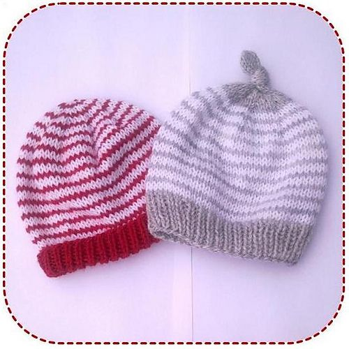 Ravelry Simple Striped Baby Hat Pattern 0 24mths 4mm Free Paytern