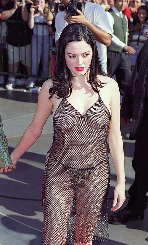 Rose Mcgowan Showing Sexy Ass And Huge Boobs In See Thru