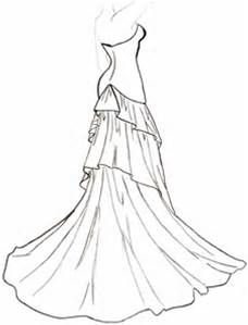 Ball Gown Coloring Pages Bing Images Wedding Dress Sketches