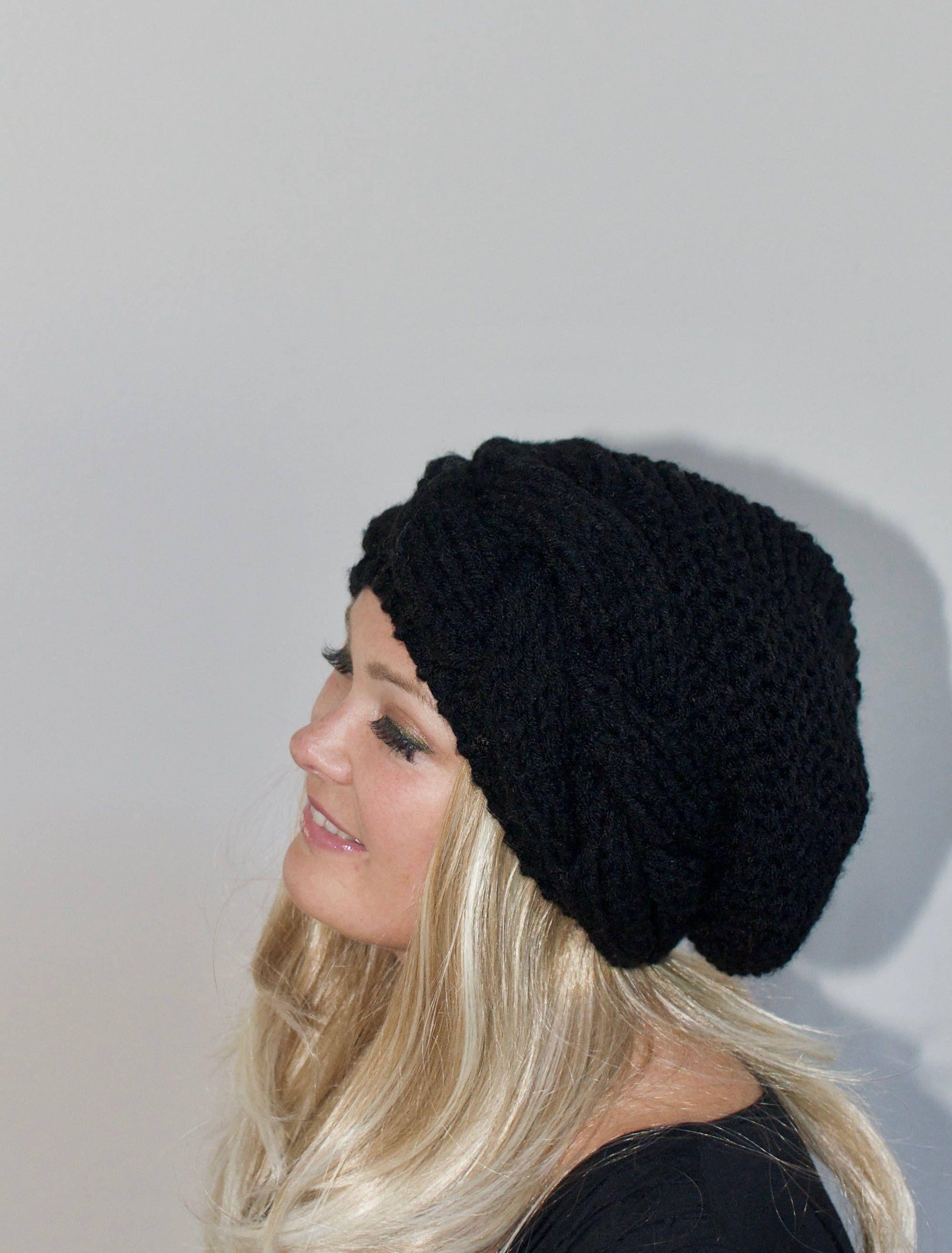 Beret for Women Crochet Beanie Hat Slouchy Beanie Women Womens Hats Black Beret Crochet Beret Super Soft Beret Crochet Hat Women