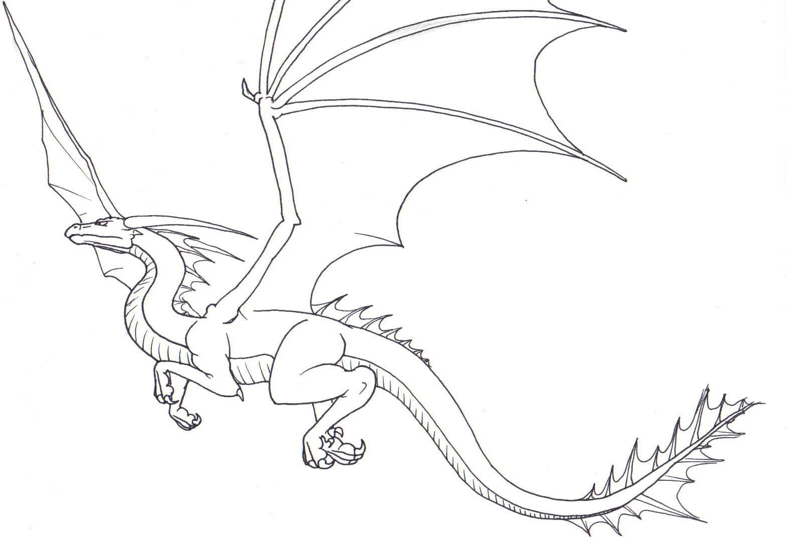 flying dragon coloring pages - flyingdragon by on deviantart