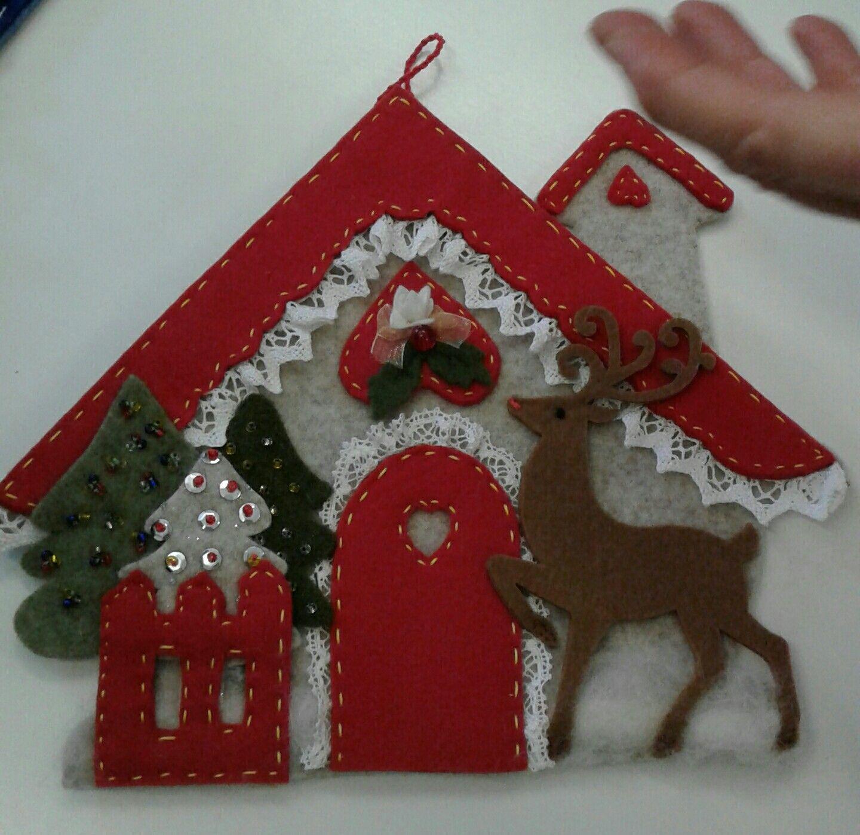 Casetta di halina ornamento di natale natale e for Ornamenti casa