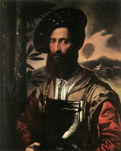 Ritratto di guerriero. 1530. Uffizi.